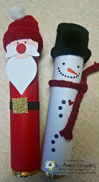 Craft 8 rollo santa and snowman