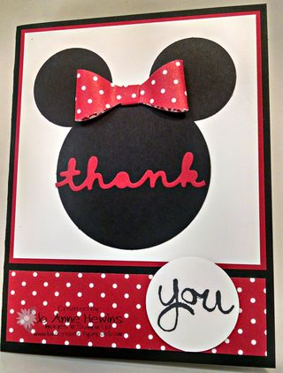 Disney red dotted hair bow