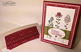 Flowering Fields card with envelope