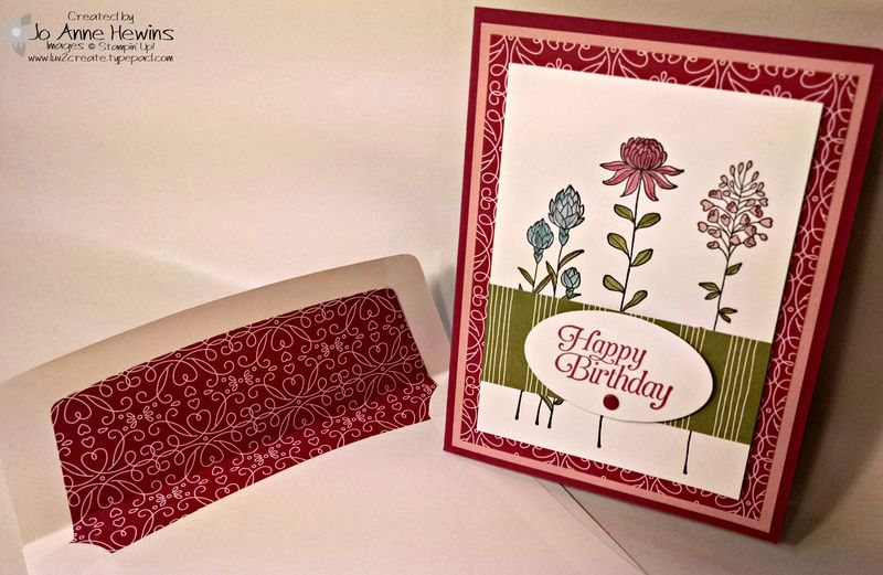 Flowering Fields card with envelope