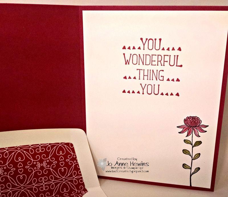 Flowering Fields inside of card