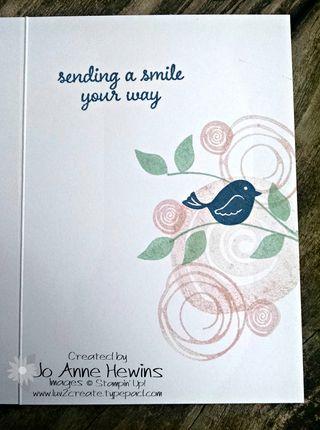 Swirly notecard inside