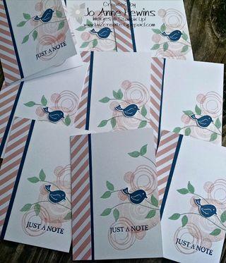 Swirly notecard group