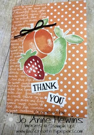 Fresh Fruit folder front