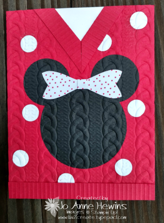 Minnie sweater card