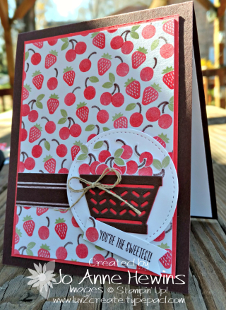 Cherry card with Tasty Treats Specialty DSP
