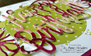 Shine on Happy Birthday with clear embossing powder