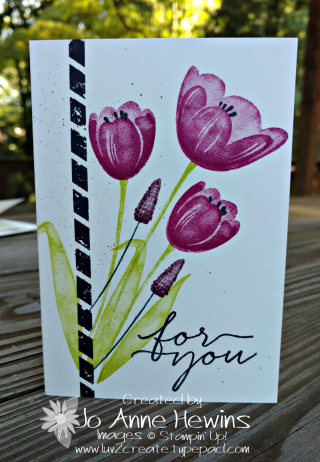 Tranquil Tulips  vanilla note card