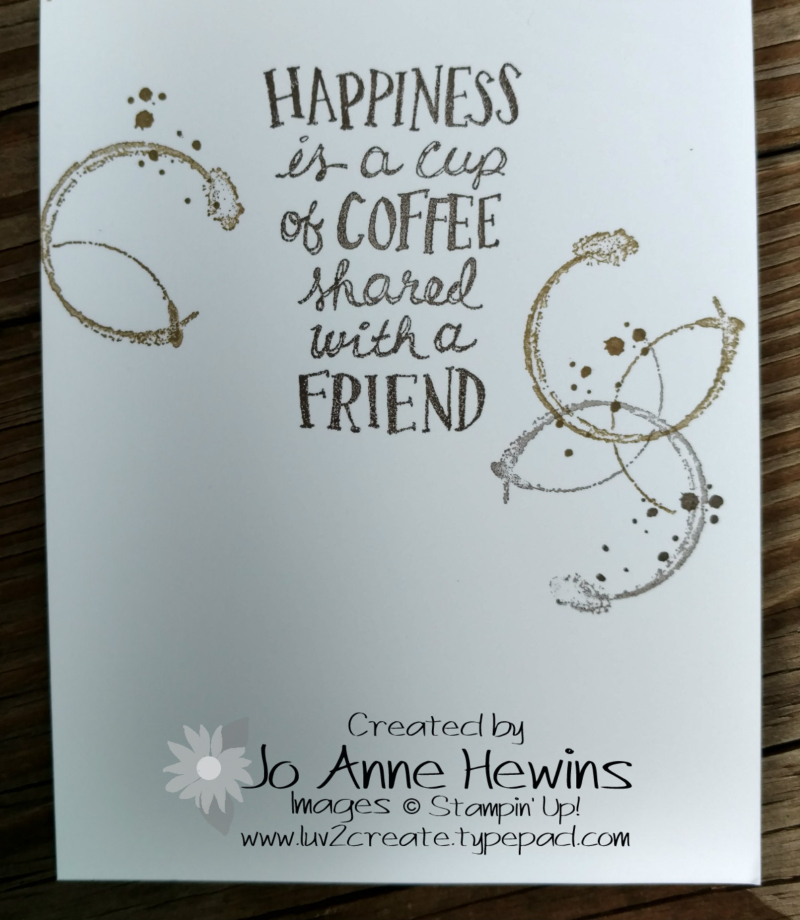 Coffee Cafe Class card inside
