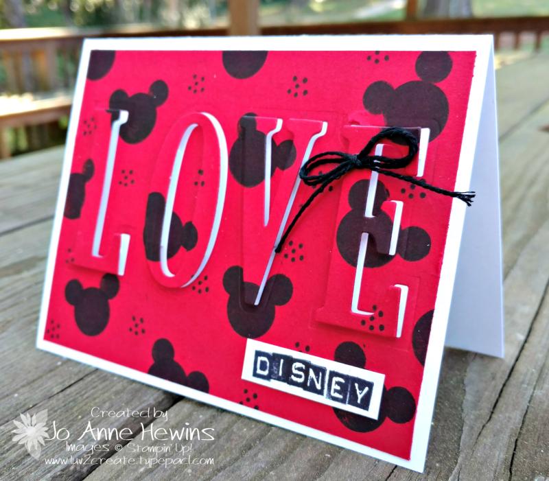 Love disney card