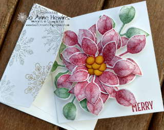 Poinsettia Frame card and envelope