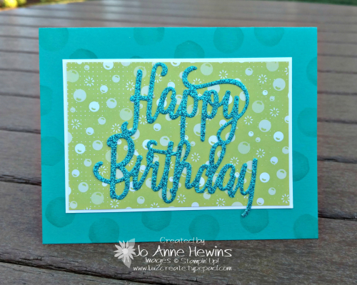 Happy birthday Thinlits and Myths & Magic Glimmer Paper Luv 2 Create