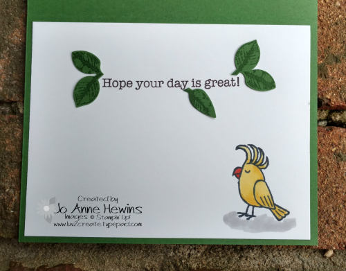 Coloring on Layered Leaves inside of card