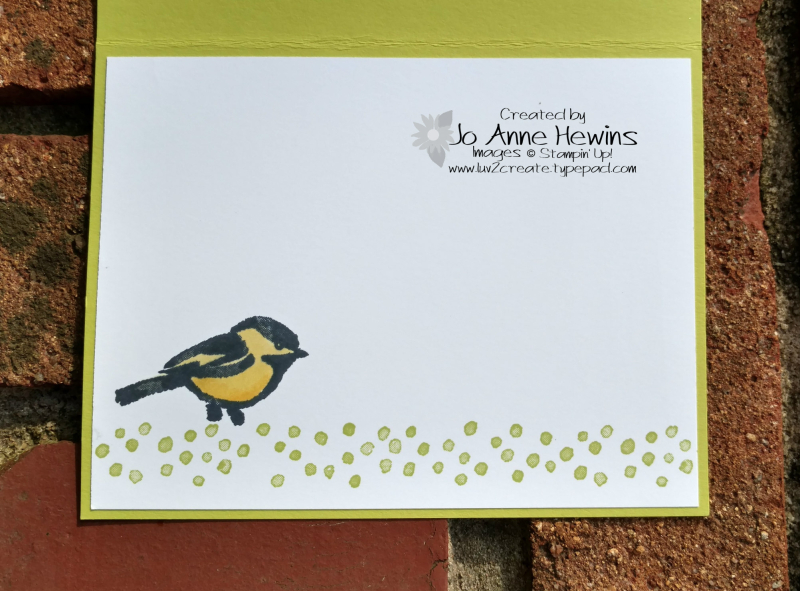 Petal Palette inside of card