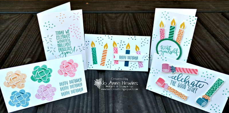 Picture Perfect Birthday with Narrow Note Cards & Envelopes Jo Anne Hewins