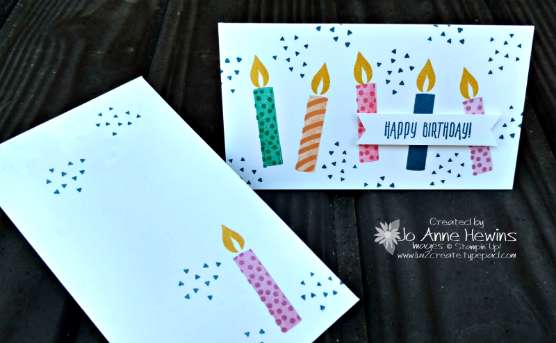 Picture Perfect Birthday using Narrow Note Cards & Envelopes  Jo Anne Hewins