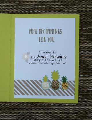 Pineapple card  inside with         Jo Anne Hewins  Luv 2 Create