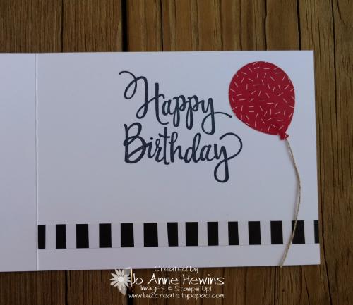 Large Numbers Framelits Tutti Frutti card Jo Anne Hewins inside