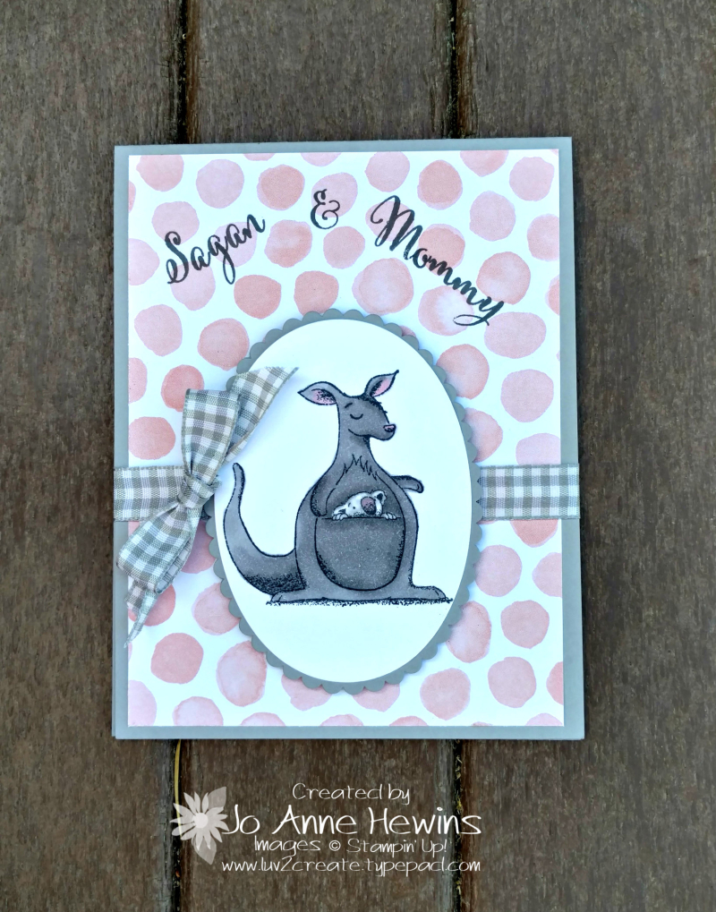 Animal Outing Baby and Mom card by Jo Anne Hewins