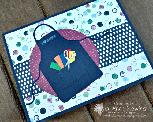 Apron of Love stamping card by Jo Anne Hewins for Luv 2 Create