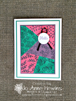 Color Fusers card for May 2018 by Jo Anne Hewins