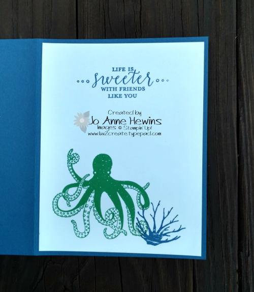 Sea of Textures inside of Blueberry card by Jo Anne Hewins