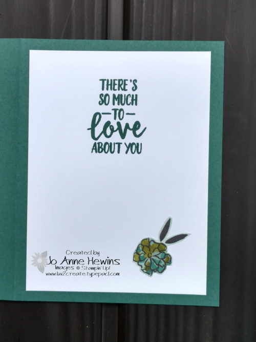 Share What You Love Specialty DSP inside of card by Jo Anne Hewins