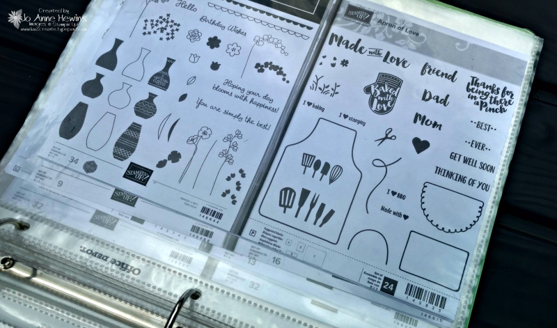 NC Demo Blog Hop on Organization notebook page by Jo Anne Hewins