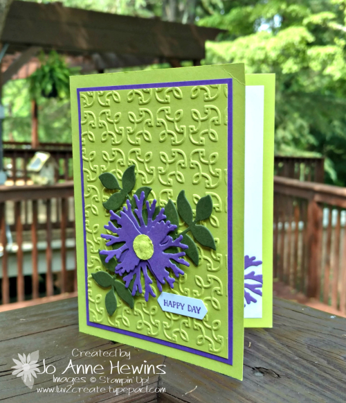 In honor of the Queen wedding card with Gorgeous Grape and Lemon Lime Twist by Jo Anne Hewins