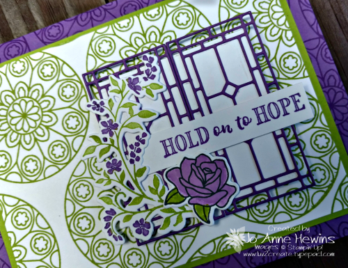 Painted Glass and Hold on to Hope close up by Jo Anne Hewins