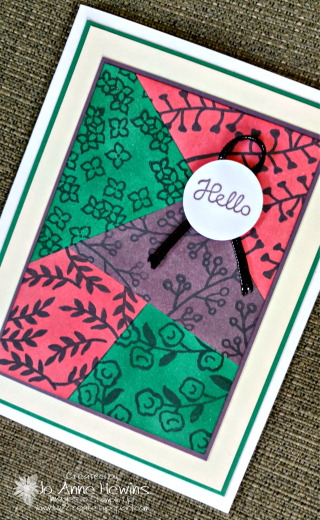 Color Fusers color technique card for May 2018 by Jo Anne Hewins