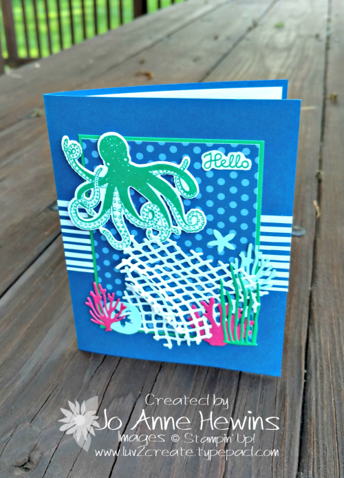 Sea of Textures stamp set with Blueberry Bushel by Jo Anne Hewins