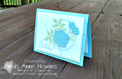 Swirly Frames  Oh  So Eclectic with Balmy Blue and Soft Sea Foam by Jo Anne Hewins