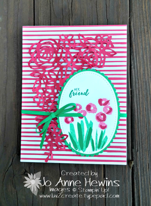 Stampin' Dreams Blog Hop Abstract Impressions card by Jo Anne Hewins