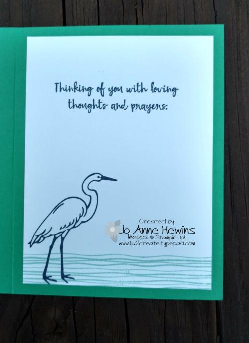 CCMC#511 Lilypad Lake inside of card by Jo Anne Hewins
