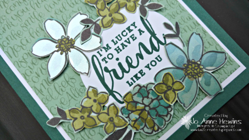 Share What You Love Specialty DSP close up of card by Jo Anne Hewins