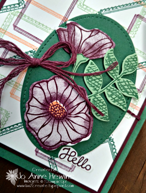 Color Fusers Swirly Frames and Oh So Eclectic for June by Jo Anne Hewins close up