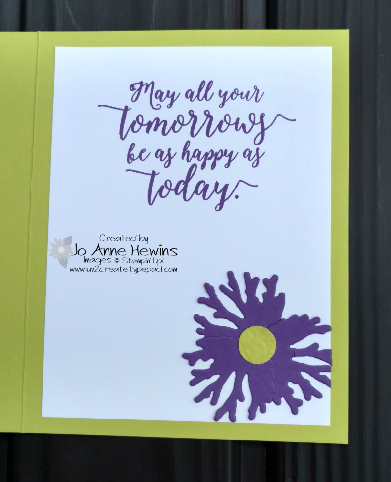 In honor of the Queen wedding card inside by Jo Anne Hewins