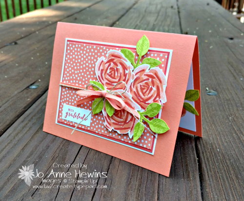 Abstract Impressions Grapefruit Grove card and In Color DSP by Jo Anne Hewins