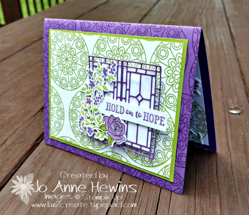 Painted Glass and Hold on to Hope  by Jo Anne Hewins for Luv 2 Create