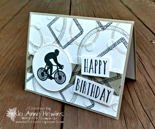 Enjoy Life Sahara Sand Birthday Card by Jo Anne Hewins