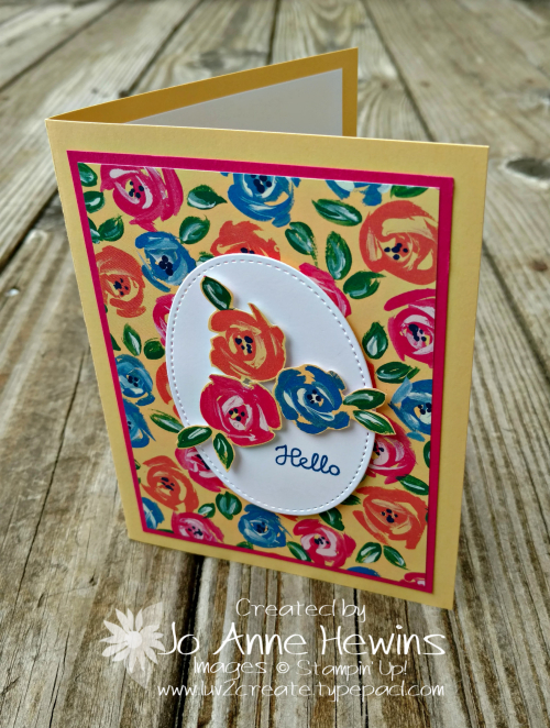 Garden Inpressions easy peasy card by Jo Anne Hewins
