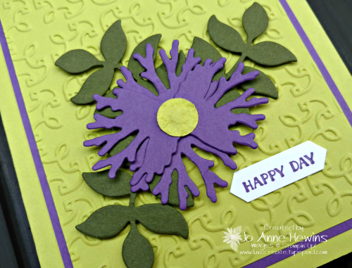 In honor of the queen wedding card with Lemon Lime Twist and Gorgeous Grape by Jo Anne Hewins