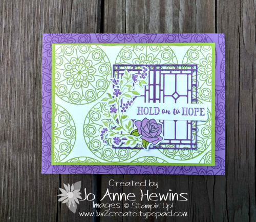 Painted Glass and Hold on to Hope by Jo Anne Hewins