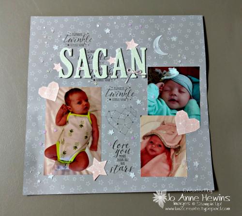 Little Twinkle scrapbook page by Jo Anne Hewins