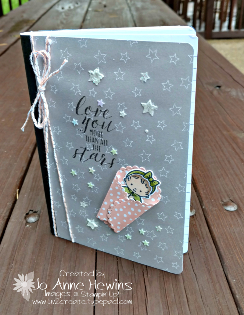 Sweet Baby covered notebook by Jo Anne Hewins