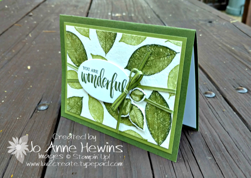 Rooted in Nature Watercolor Leaves card by Jo Anne Hewins