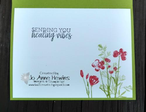 CCMC #518 Pressed Flowers inside of card by Jo Anne Hewins
