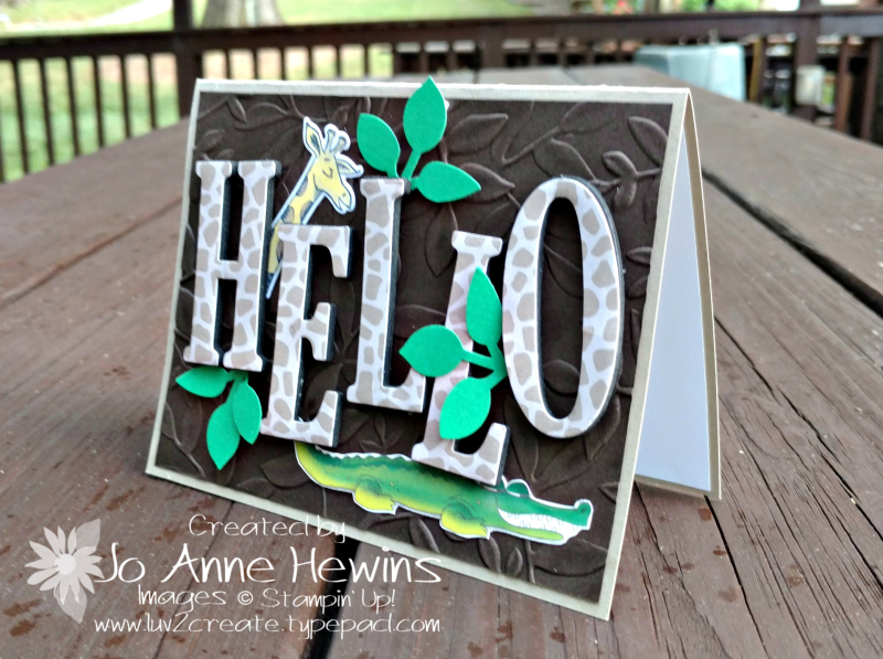 Hello Animal Outing  Animal Expedition card by Jo Anne Hewins