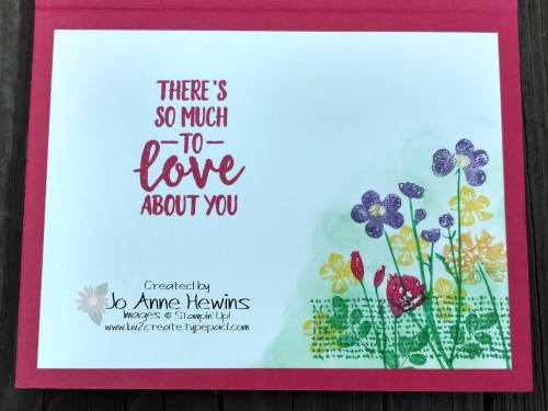 Color Fusers Pressed Flowers inside of card by Jo Anne Hewins